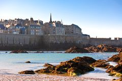 Saint Malo from the sea Royalty Free Stock Photos