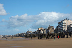 Saint Malo seafront, april 2014, France Royalty Free Stock Photo