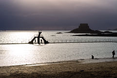 Saint Malo Silhouette Royalty Free Stock Photo