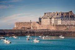 Saint Malo -Stadtbild, Brittany France stockfotografie