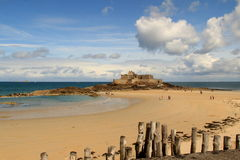 Saint Malo. Summer camping in Saint Malo Royalty Free Stock Photos