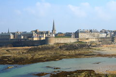 Saint Malo. Touristic Saint Malo fortified city in French Brittany Royalty Free Stock Photography