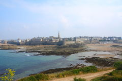 Saint Malo. Touristic Saint Malo fortified city in French Brittany Stock Images