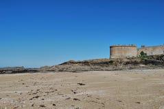 Saint-Malo. View of Saint-Malo beach Stock Photography