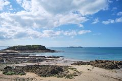 Saint-Malo. View of Saint-Malo beach Royalty Free Stock Images