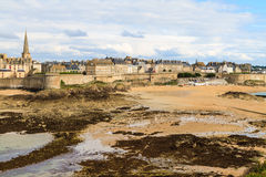 Saint Malo View on City Walls, France Stock Images