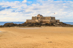 Saint Malo View on Fort National, France Stock Photo