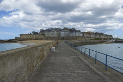 Saint Malo. Walled port city in Brittany, France Royalty Free Stock Photo