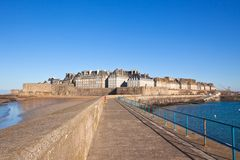 Saint Malo from the wharf Royalty Free Stock Photo