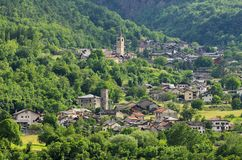 Saint-Marcel Castello Royalty Free Stock Image