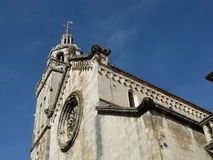 The saint Marco cathedral opposite a blue sky Royalty Free Stock Photo