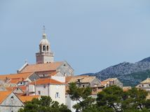 The Saint Marco church in Korcula Royalty Free Stock Photography