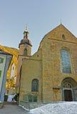 Saint Maria Himmelfahrt Church in Chur at sunrise Royalty Free Stock Photo