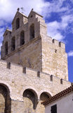 Saint maries de la Mer. Camargues - The cathedral of the village with 3 bell Stock Photo