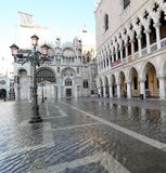 Saint Mark Basilica and Doge's Palace in Venice Italy Stock Image