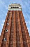 Saint Mark belfry in Venice. Saint Mark belfry, the most famous symbol of Venice Stock Photo