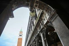 Saint Mark campanile on Piazza San Marco Stock Photography