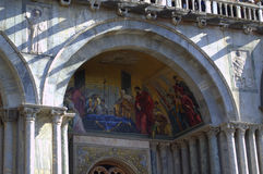 Saint Mark church facade painting Venice Royalty Free Stock Images