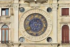 Saint Mark Clocktower with zodiac signs. Saint Mark ancient clock with twelve zodiac signs, in Venice Royalty Free Stock Images
