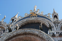 St Marks basilica. Detail of the St Mark's basilica in Venice Stock Photos
