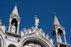 St Marks Basilica. Architectural details of St Marks Basilica in Venice Stock Photos