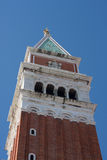 St Mark's Campanile. Closeup of St Mark's Campanile, Venice, Italy Stock Photography