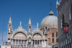 Saint Mark place in Venice. With many monuments Royalty Free Stock Images