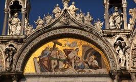Saint Mark's Basilica Mosaic Statues Venice Stock Photos