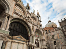 Saint Mark's  Basilica in Venice Stock Images