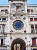 Saint Mark`s Clock, Venice, Italy stock images