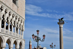 Saint Mark Square. St Mark Square in Venice with famous monuments Stock Photos