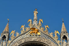 Saint Marks Basilica. San Marco Square, Venice, Italy Royalty Free Stock Images