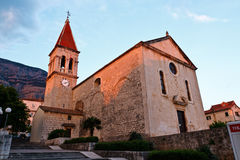 Saint Mark's Church in Makarska Stock Photography