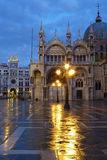 Saint Marks Square in the Rain Royalty Free Stock Photo