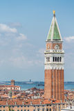 Saint Marks Tower Above Venice Royalty Free Stock Image