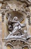 Saint Martha of Bethany. Statue of Saint Martha of Bethany on facade of Santa Maria Maddalena Church in Rome, Italy Royalty Free Stock Photo