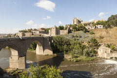 Saint Martin Bridge over the Tagus river. Toledo. Spain. Royalty Free Stock Photography