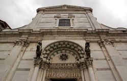 Saint-Martin Cathedral of Lucca Lucca Tuscany Italy stock photography