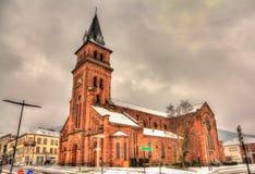 Saint Martin Chruch in Saint-Die-des-Vosges - France. Saint Martin Chruch in Saint-Die-des-Vosges - Lorraine, France royalty free stock images