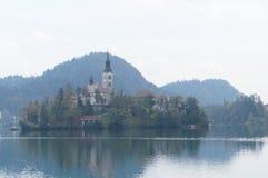 Saint Martin church, Bled lake, Slovenia Stock Image