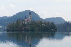 Saint Martin church, Bled lake, Slovenia Royalty Free Stock Images