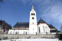 Saint Martin Church at Lake Bled, Slovenia. Royalty Free Stock Photography
