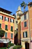 Saint Martin church in Portofino, Liguria, Italy Stock Images