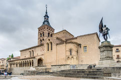 Saint Martin church at Segovia, Spain Stock Image