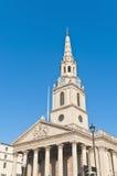Saint Martin dans les domaines à Londres, Angleterre Images libres de droits