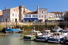 Saint-Martin-de-Ré harbour, France Royalty Free Stock Photos