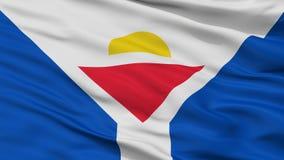 Saint Martin Fictional Flag Closeup View illustration libre de droits
