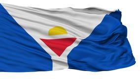 Saint Martin Fictional Flag, d'isolement sur le blanc illustration stock
