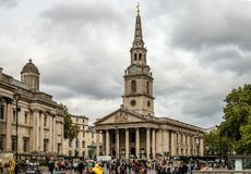 Saint Martin-in-the-Fileds, in Trafalgar Square. royalty free stock photo