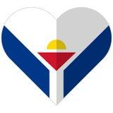 Saint-Martin flat heart flag Stock Photography